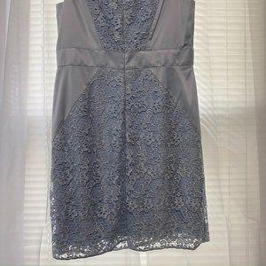 Jessica Simpson Dresses - Jessica Simpson Lace Overlay Satin Sheath Dress